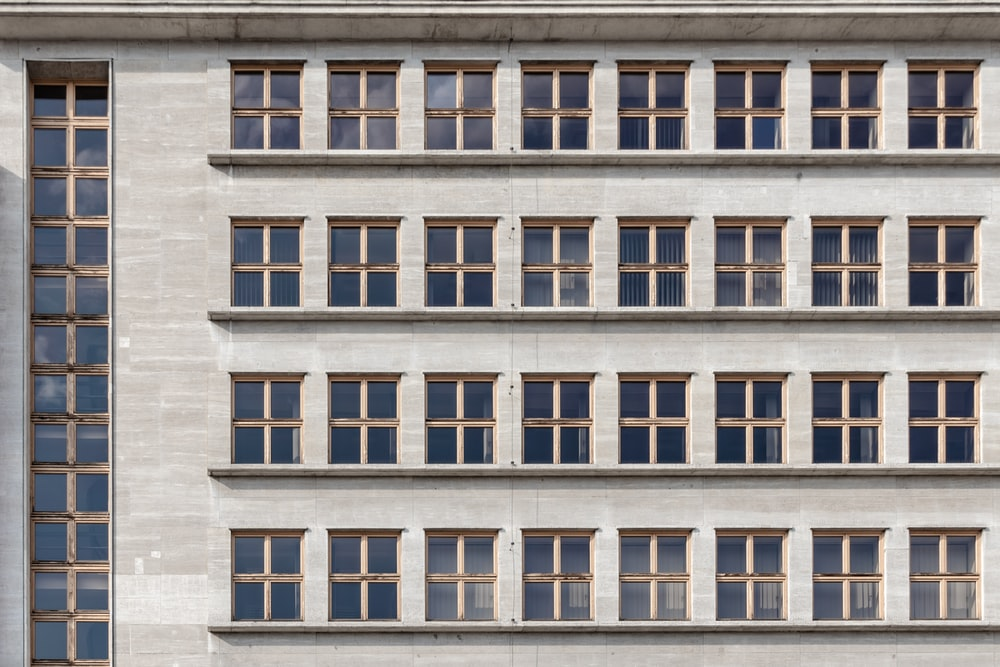man's eye view of multi-storey building