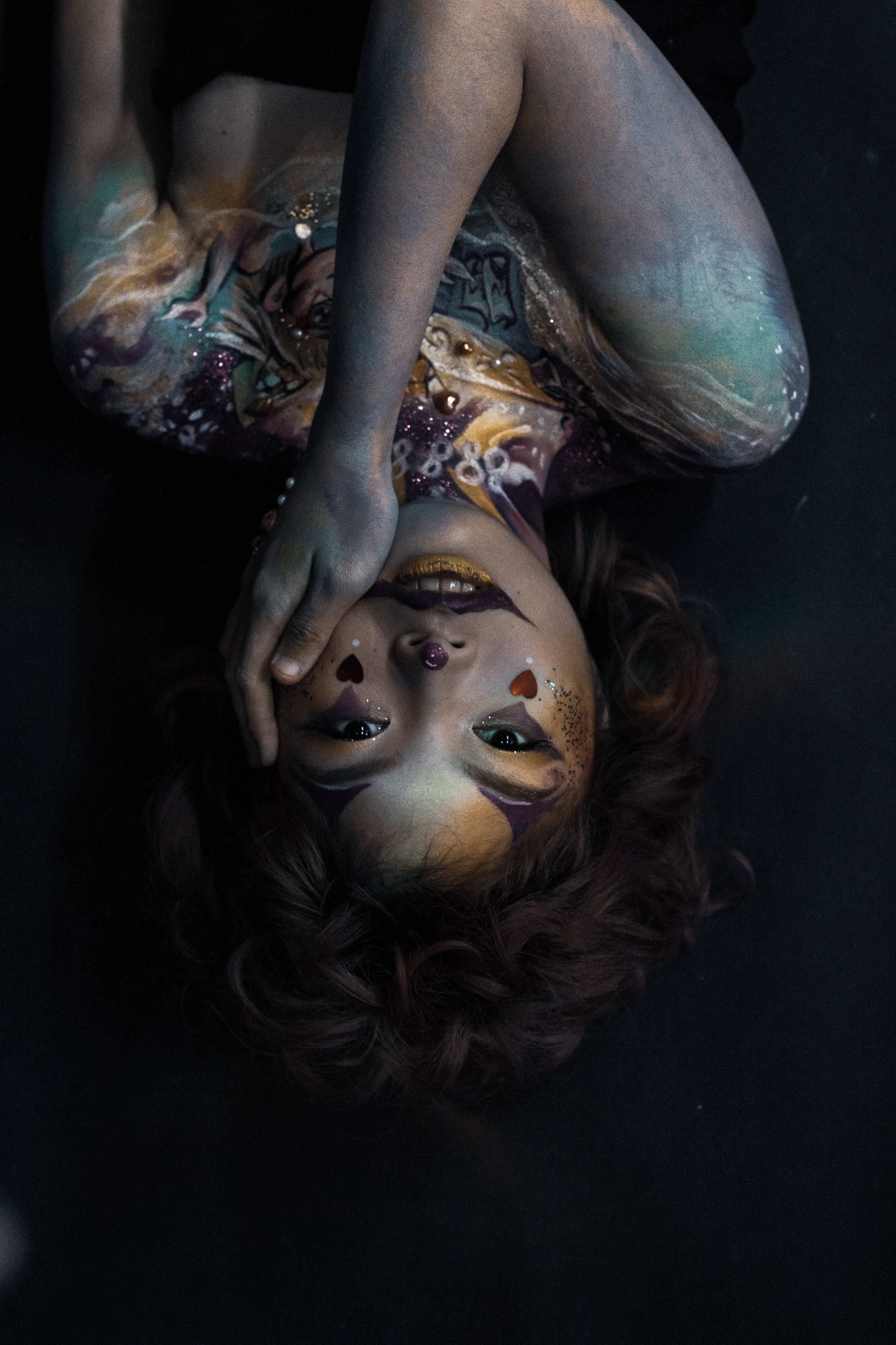 photo of woman with body paint