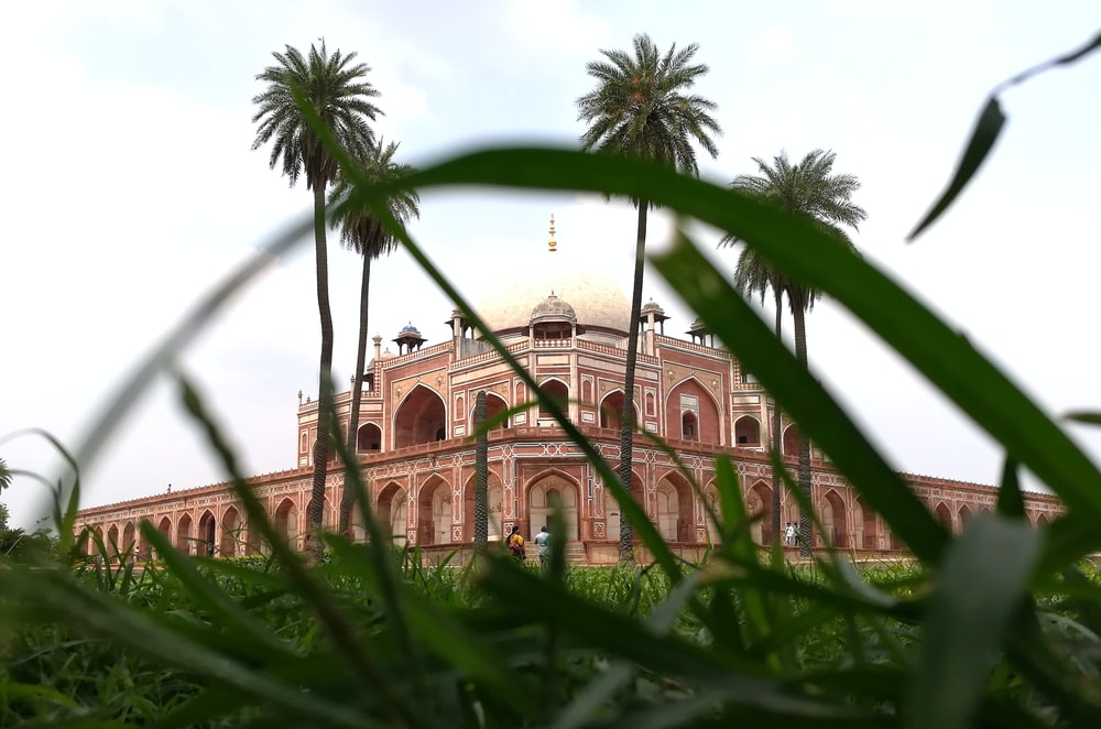 photograph of brown mosque