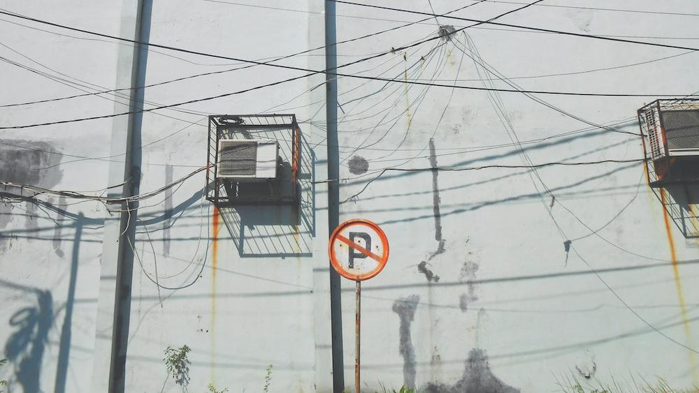 No Parking signage