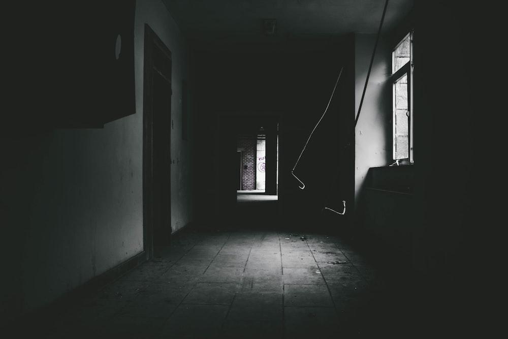 empty hallway of house