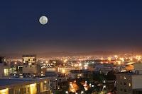 full-moon during nighttime