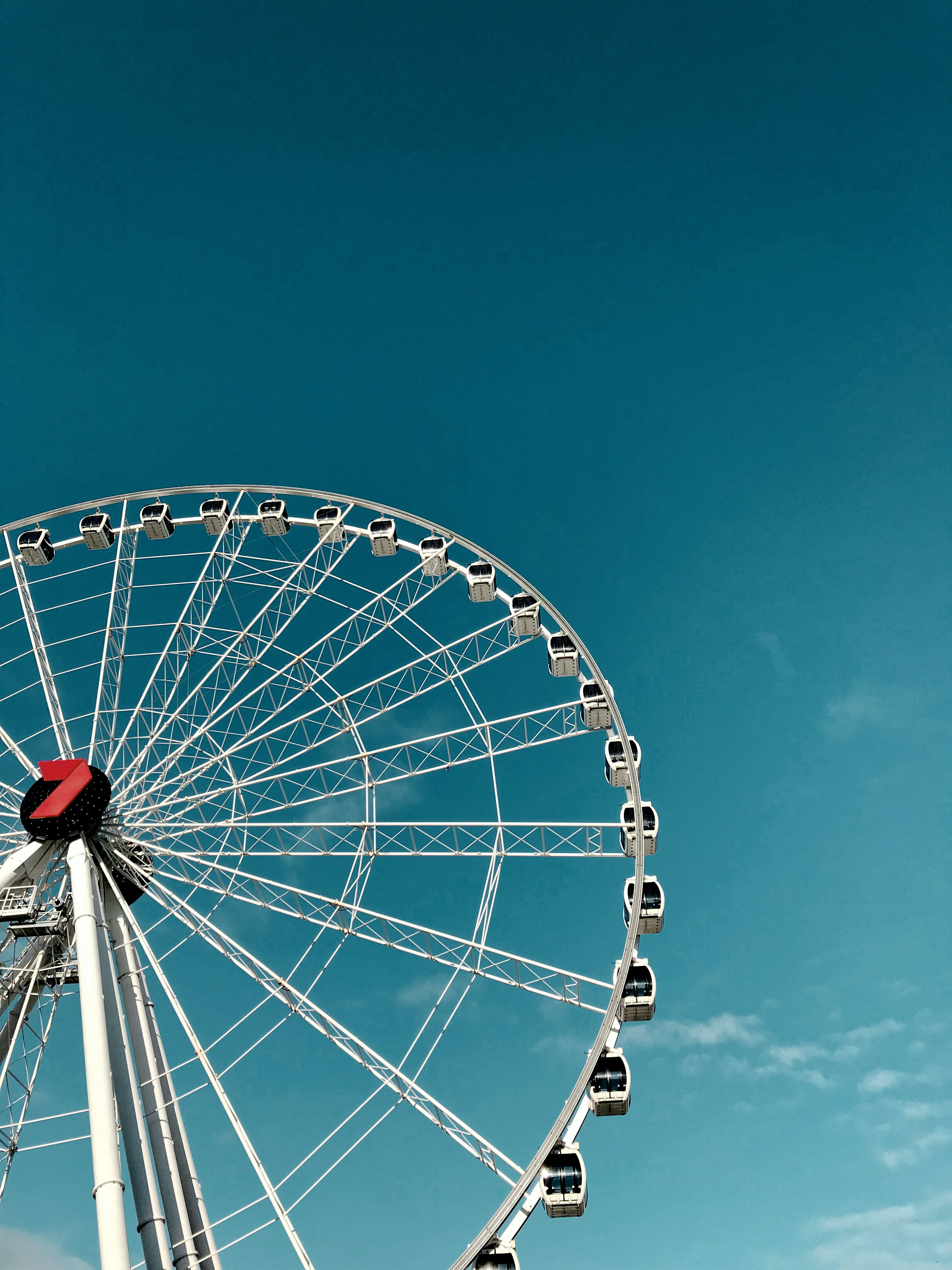 worm's-eye view of ferris wheel