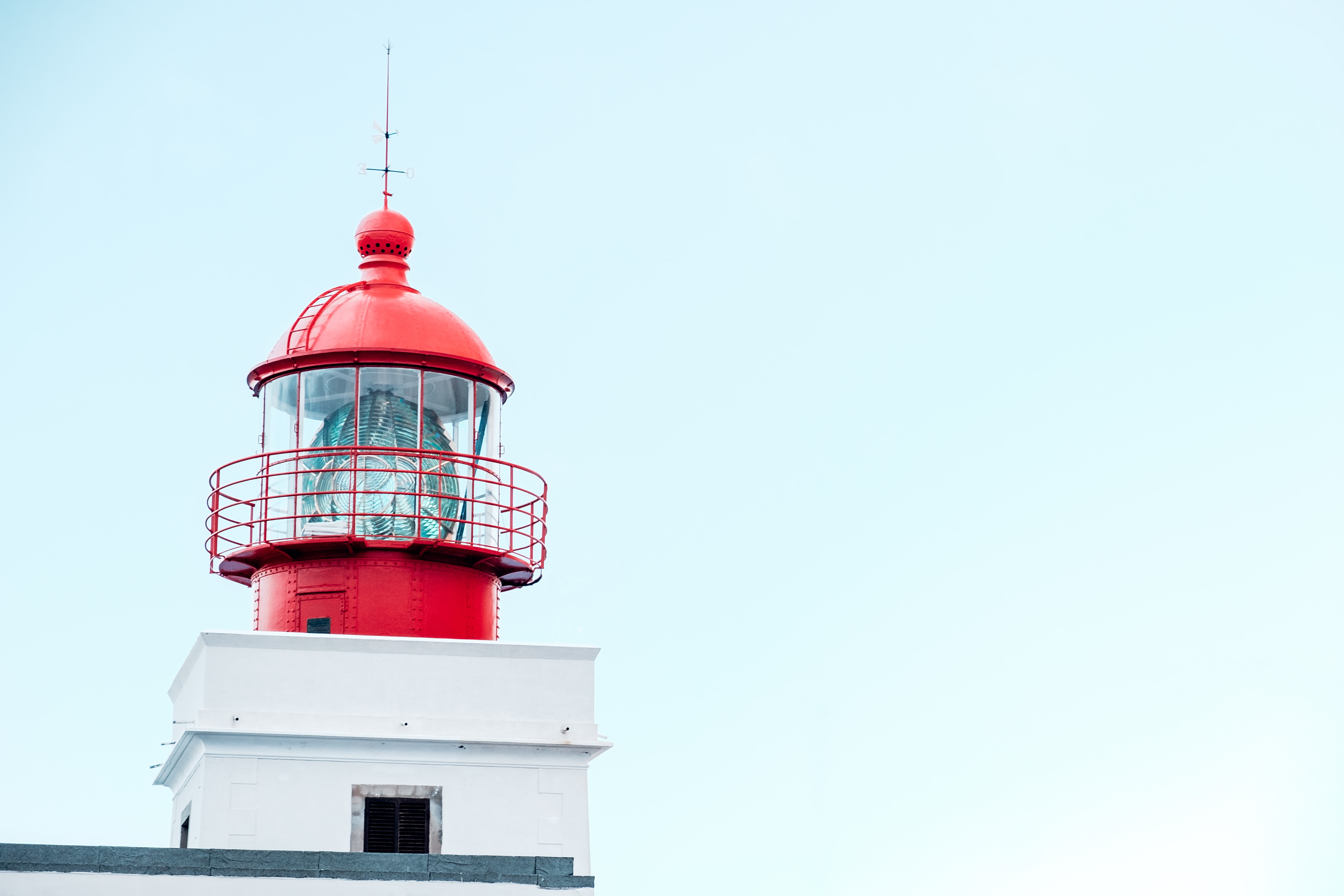red and black tower