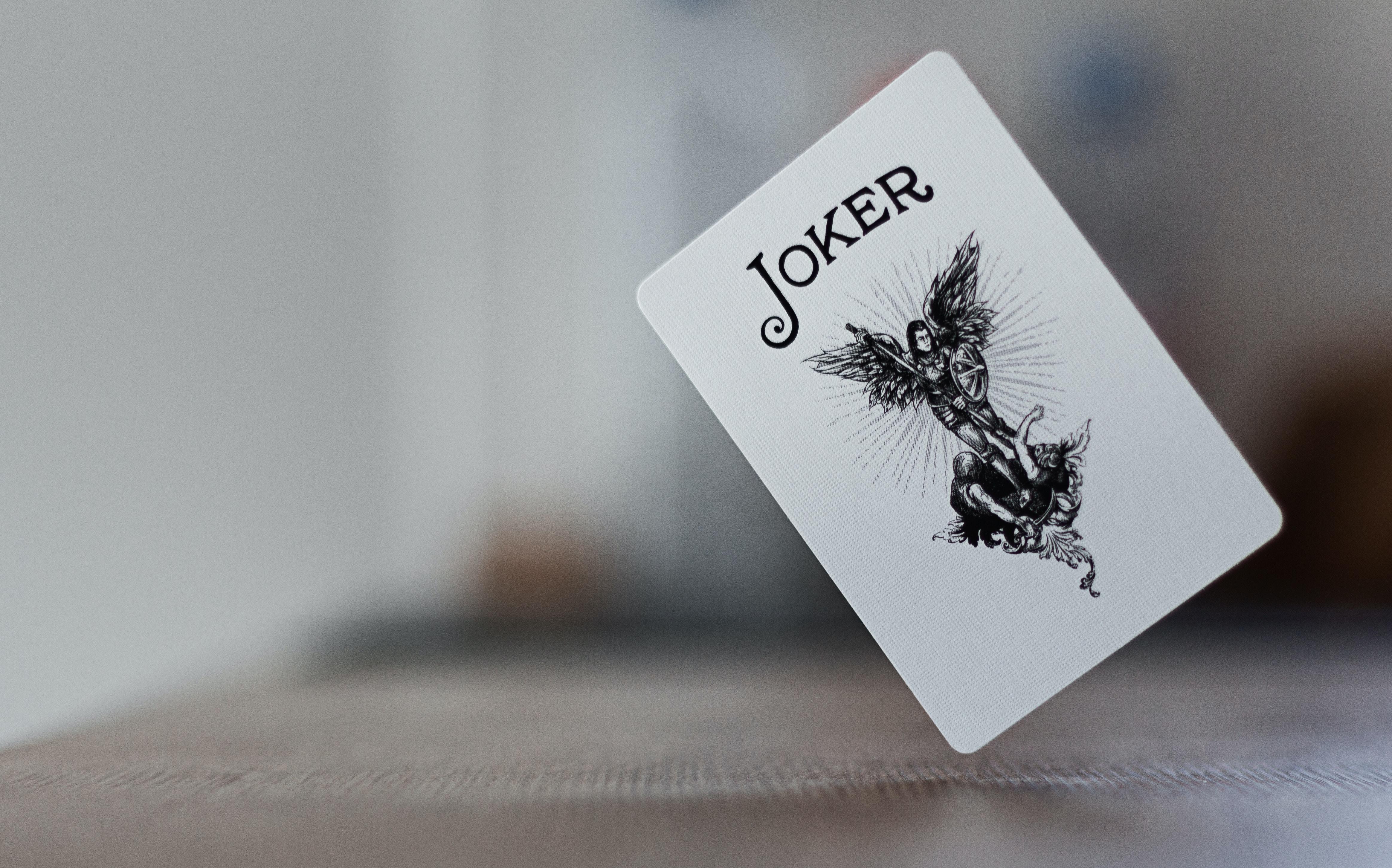 close-up photography of Joker card