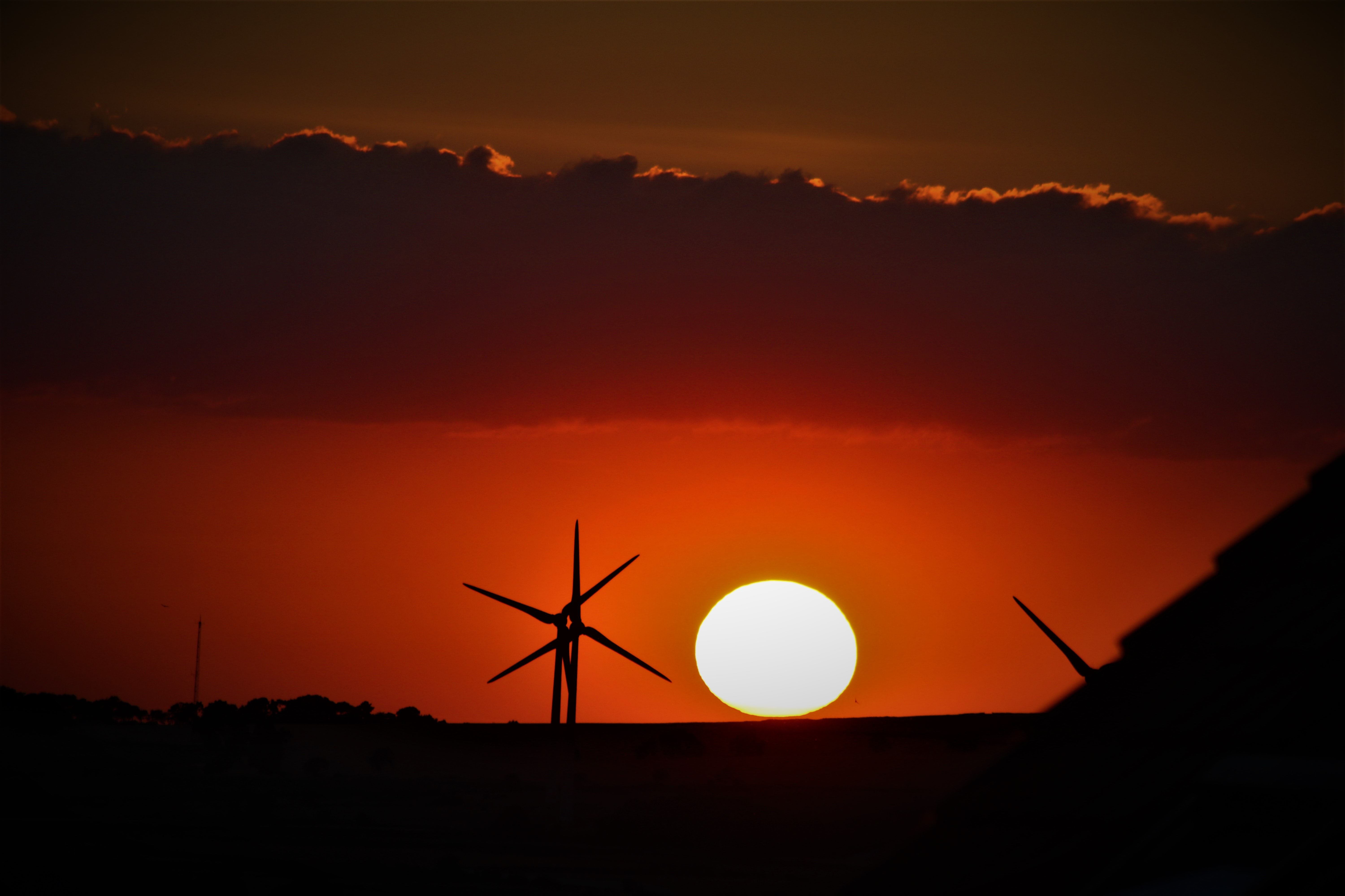windmill at golden hour