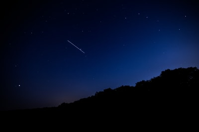 long exposure photography of sky iss teams background