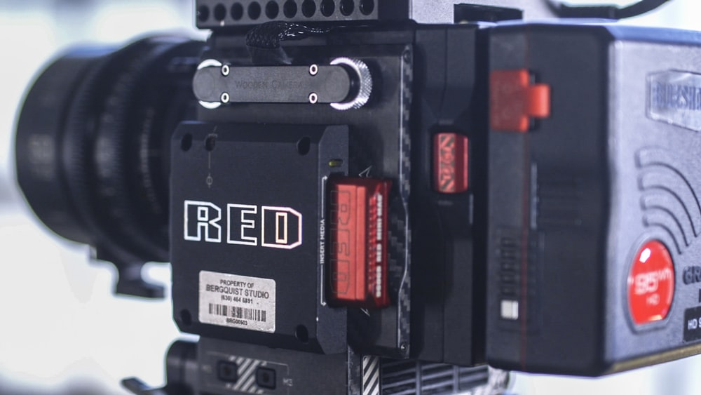 black Red electronic machine