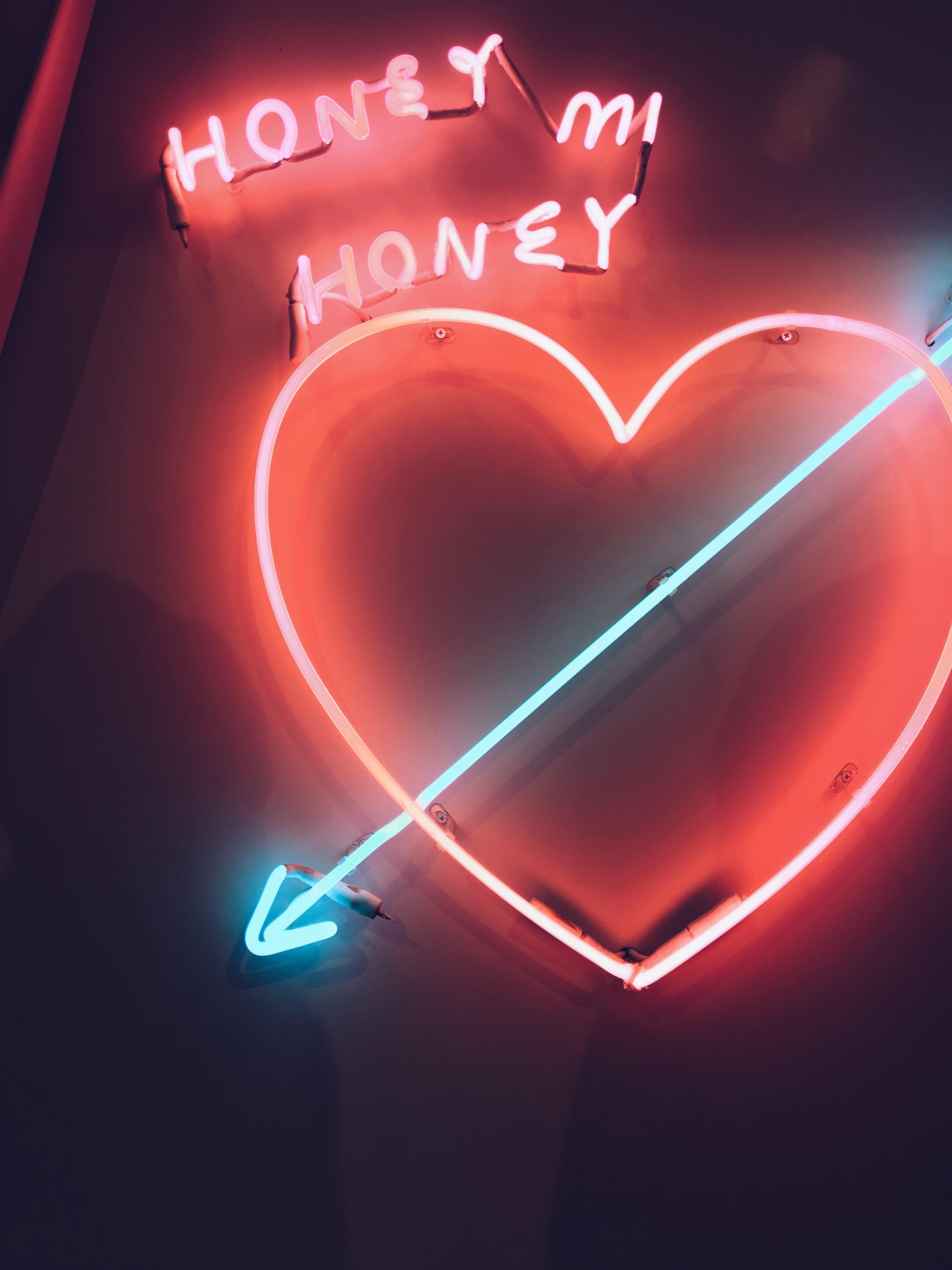 heart LED signage