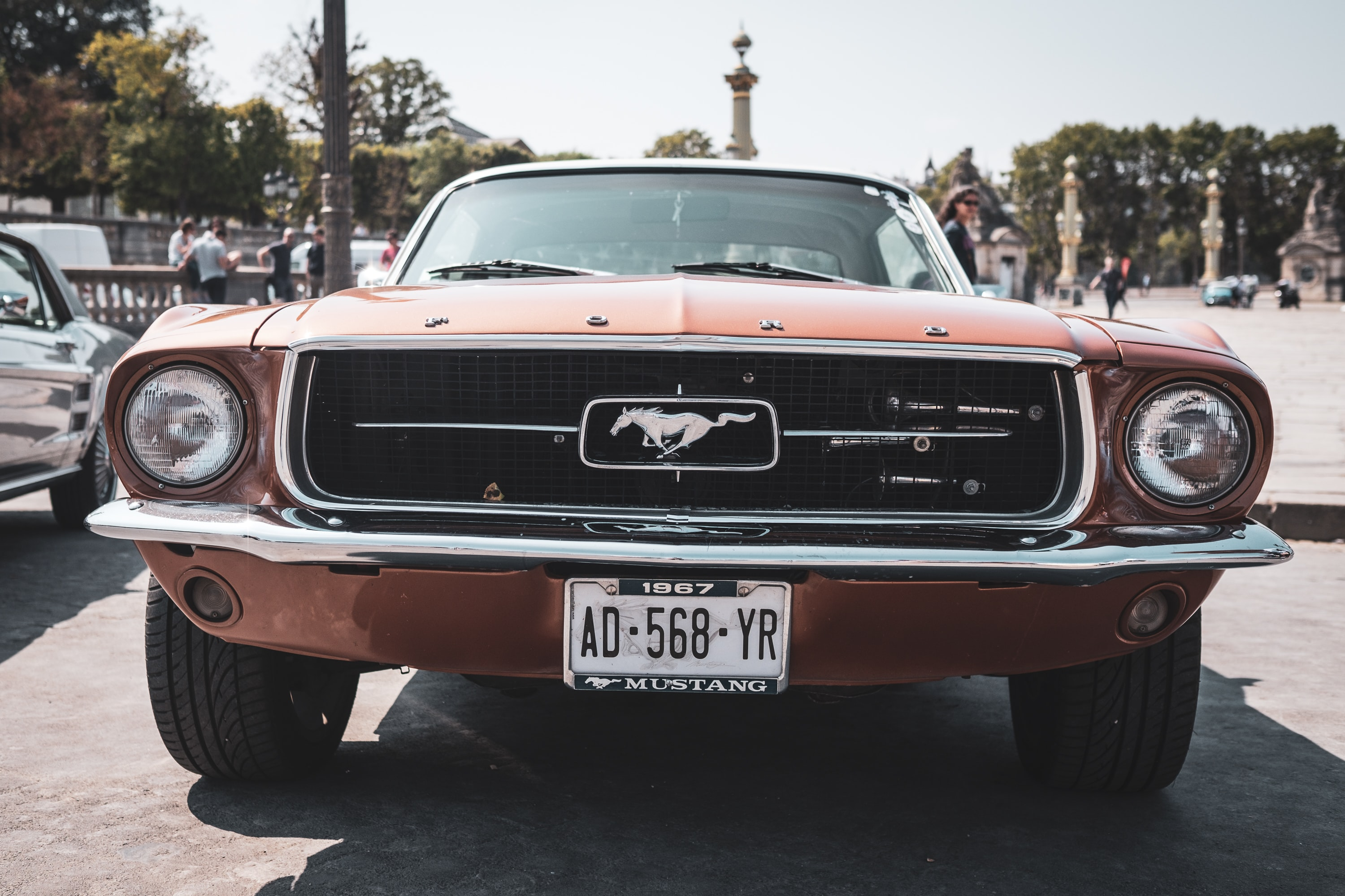 tilt shift photography of Ford Mustang