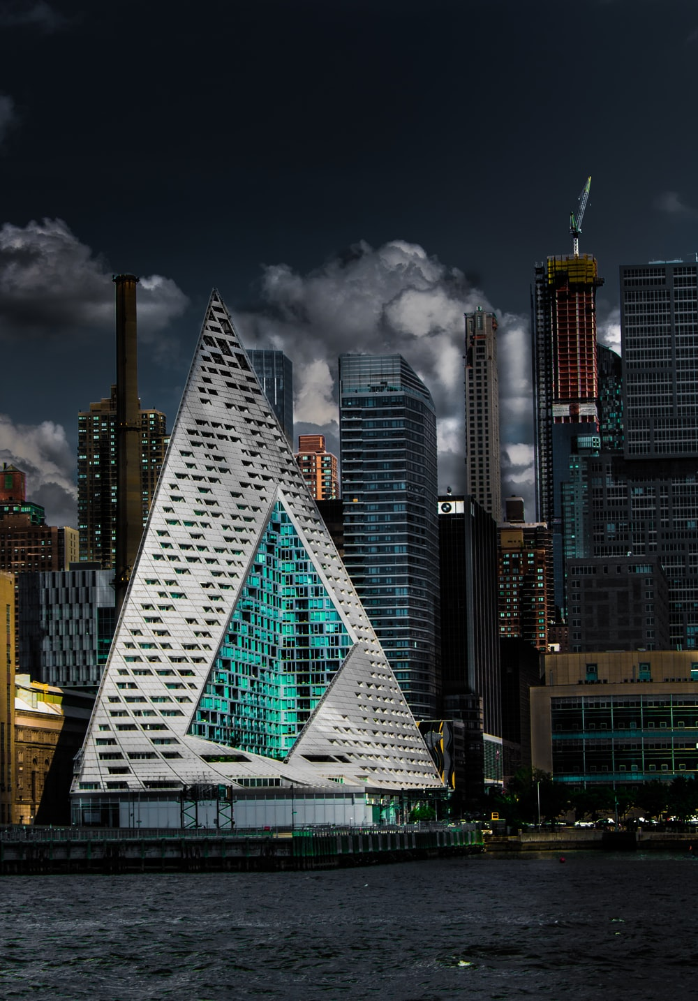 architectural photography of gray buildings
