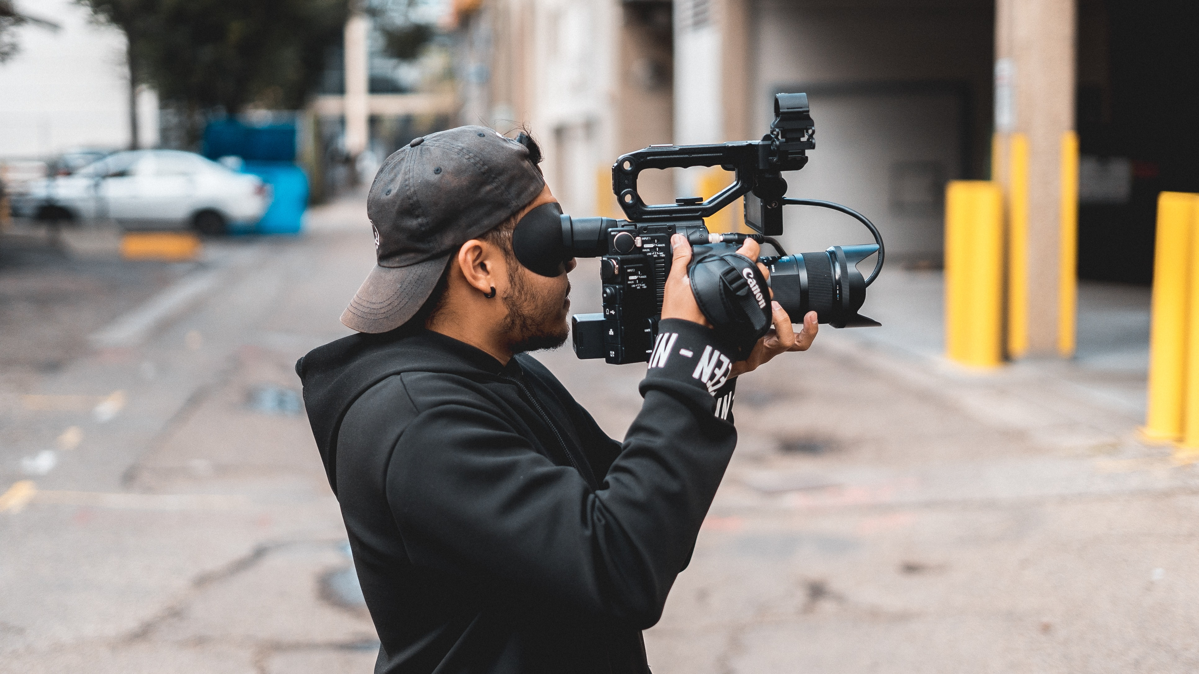 person taking video