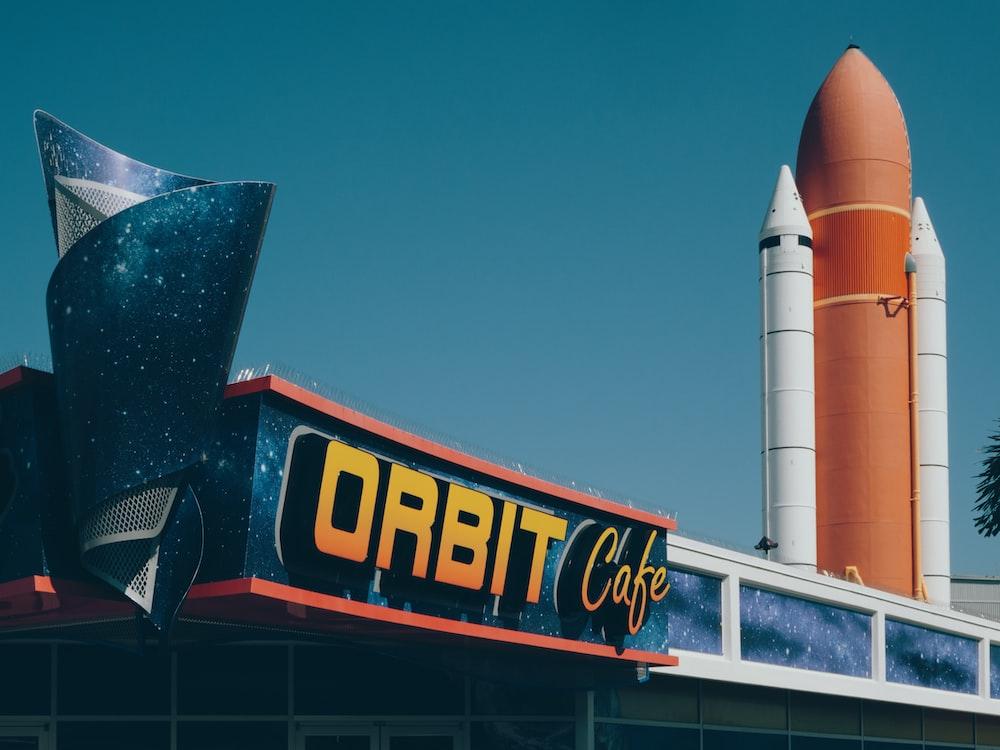Orbit cafe signage