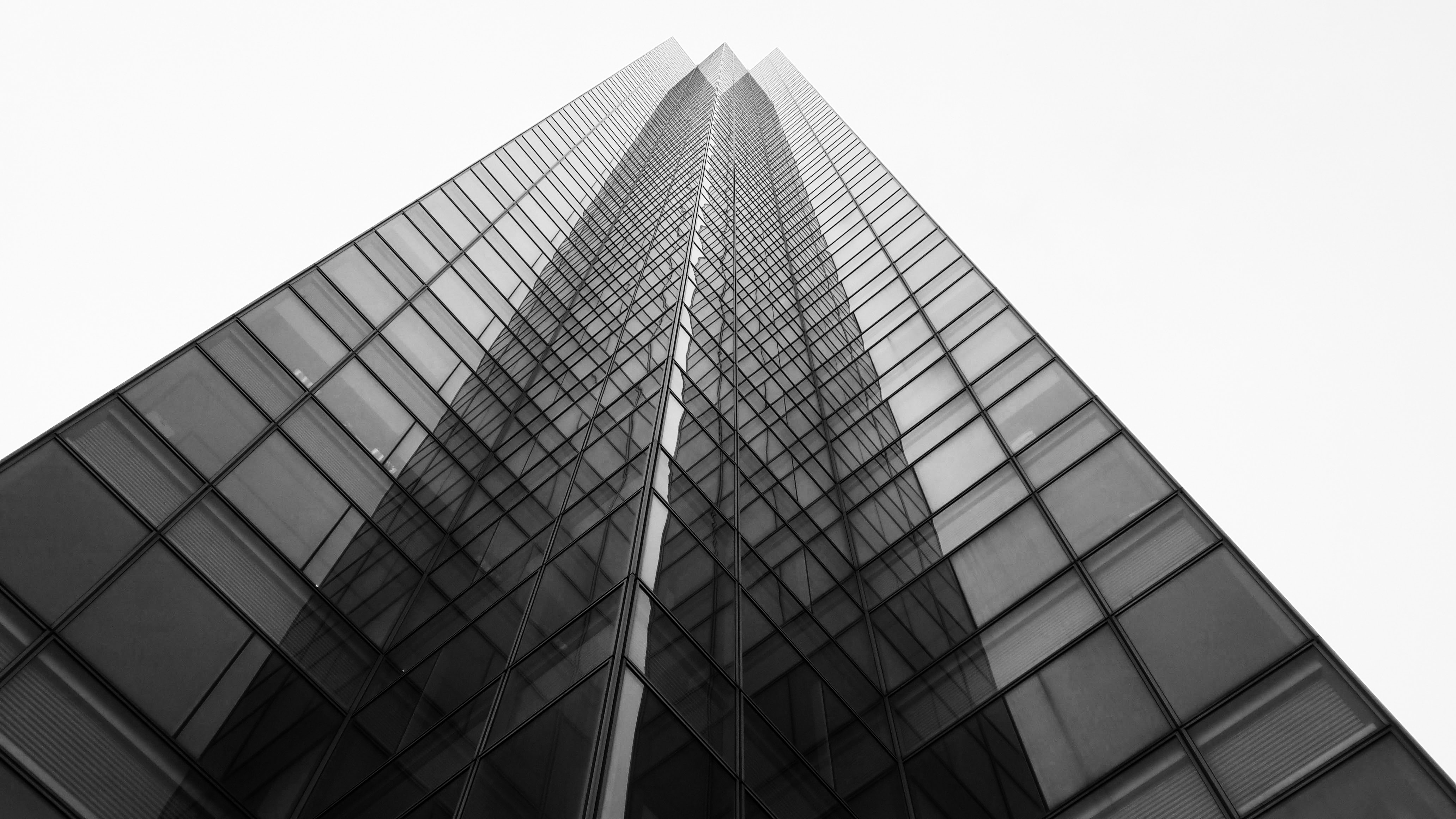 low angle view photography of a high-rise building