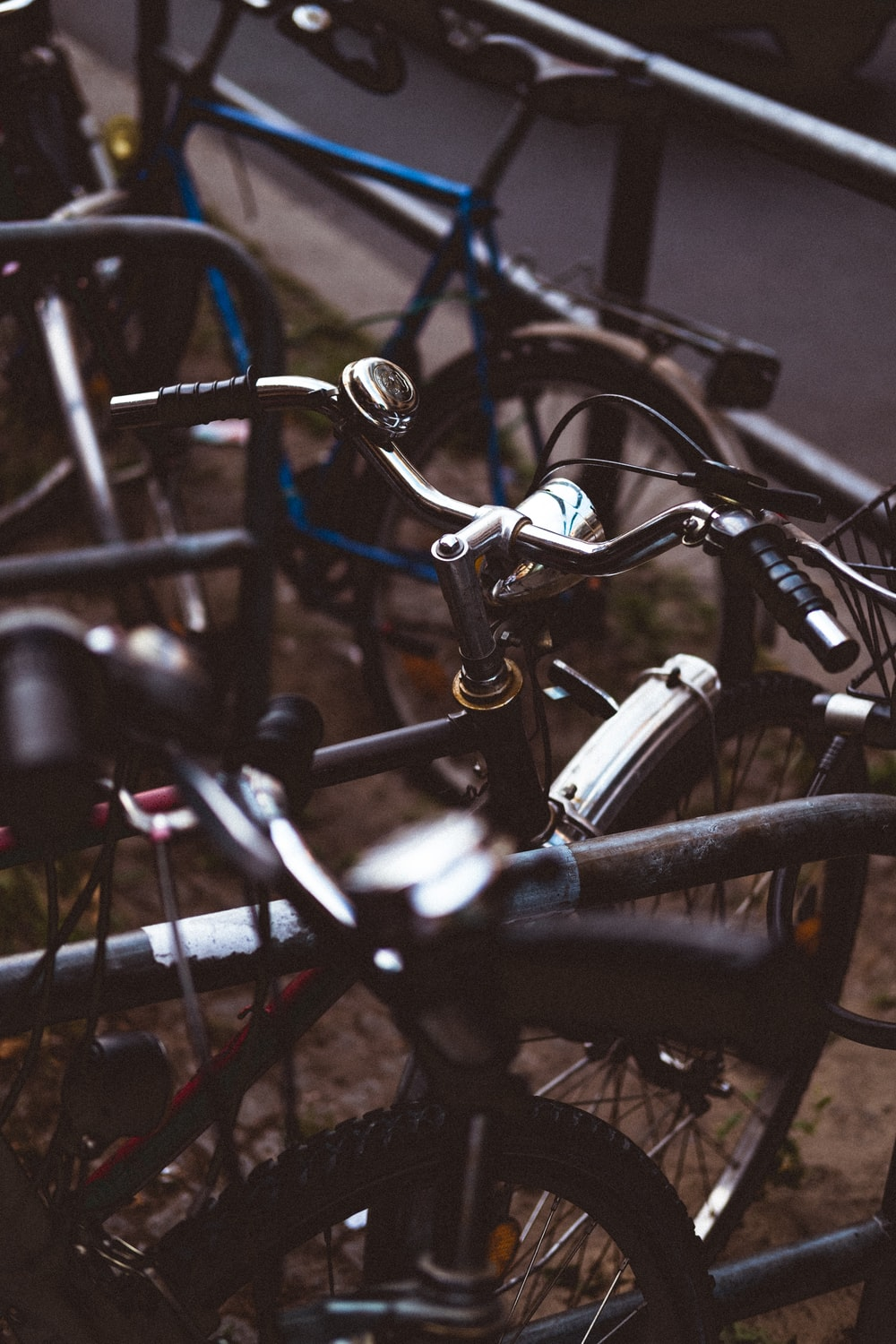 close up photography of bicycles