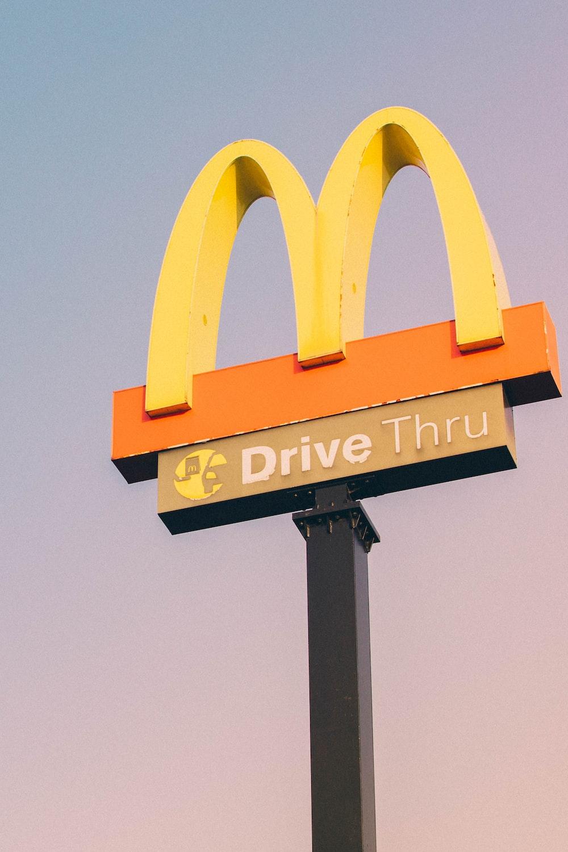 McDonald Drive Thru logo street signage