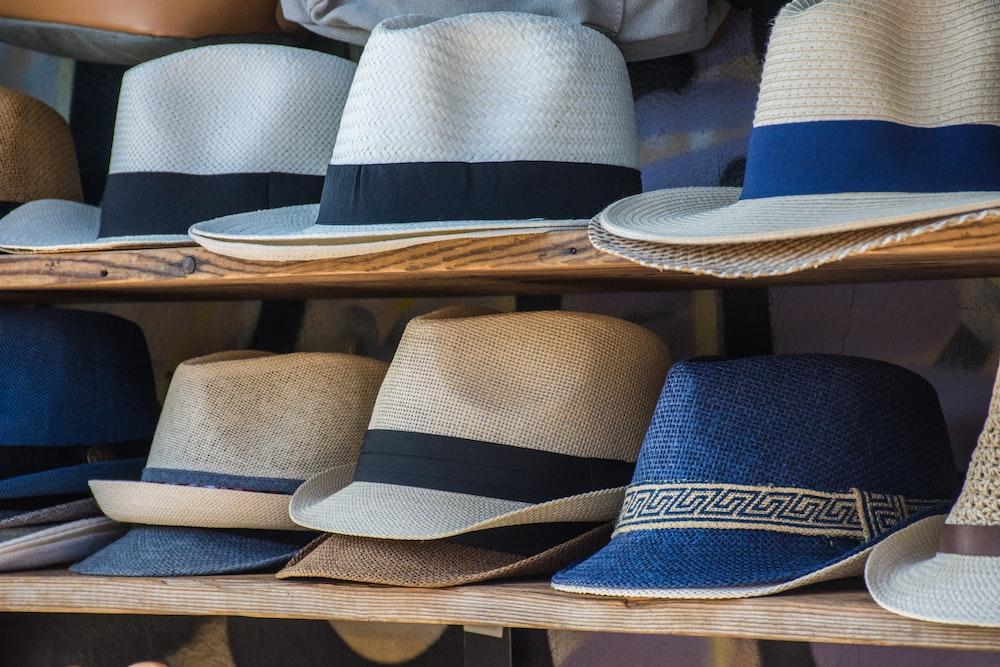 assorted-color fedora hat lot
