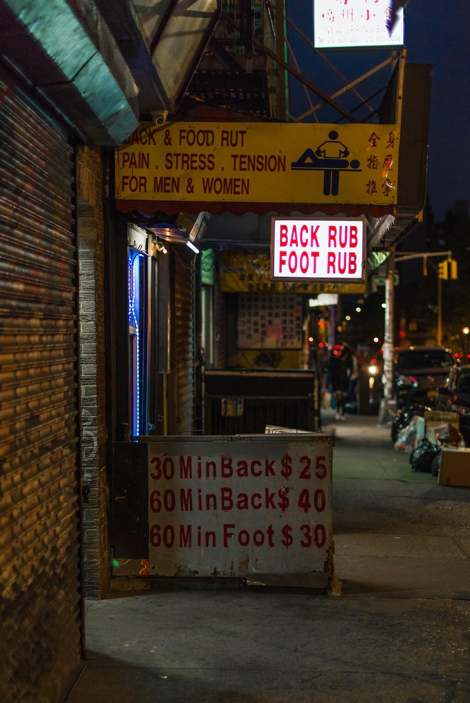 Back Rub Foot Rub LED sign