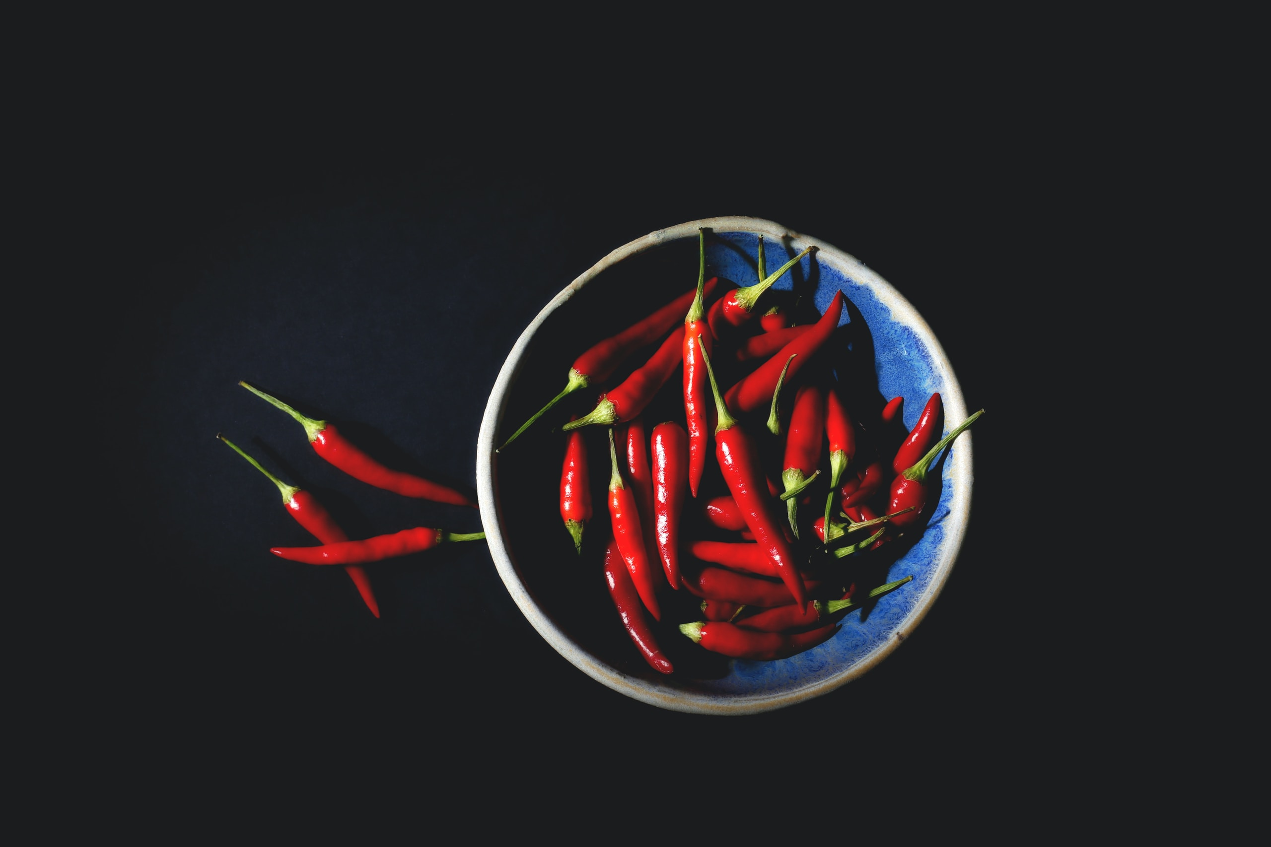 A bowl of red chilies