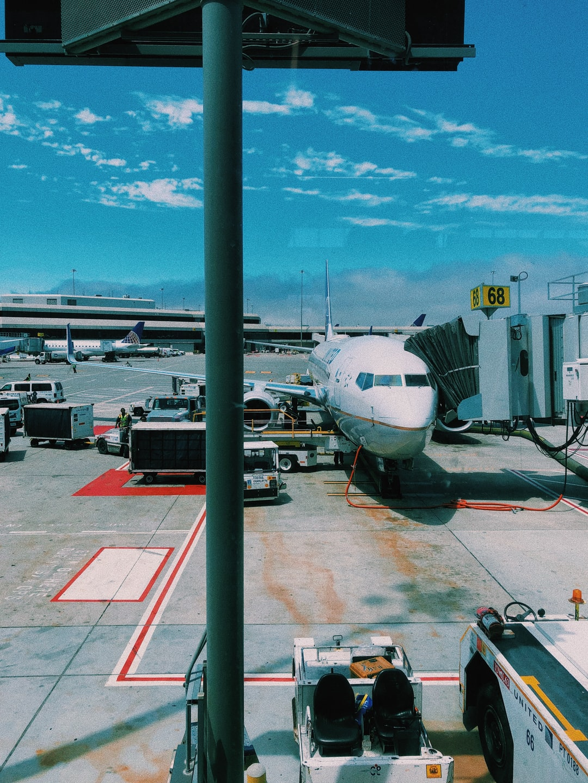 Waiting at a smoky San Francisco Airport