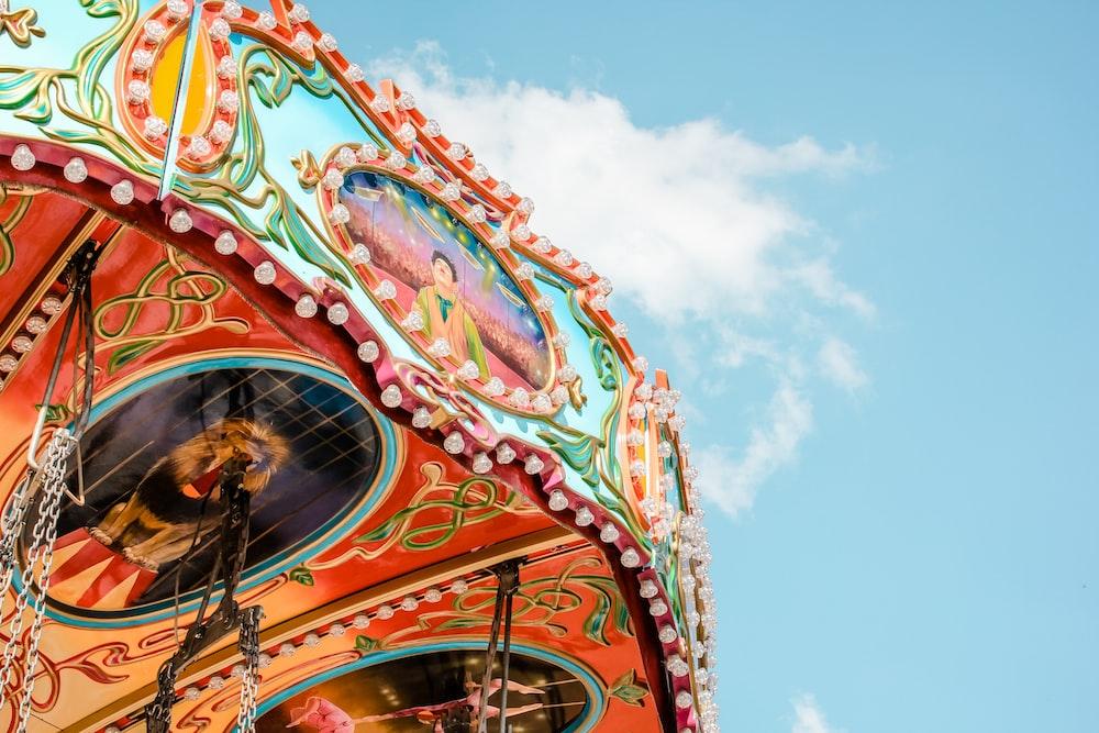 multicolored amusement ride