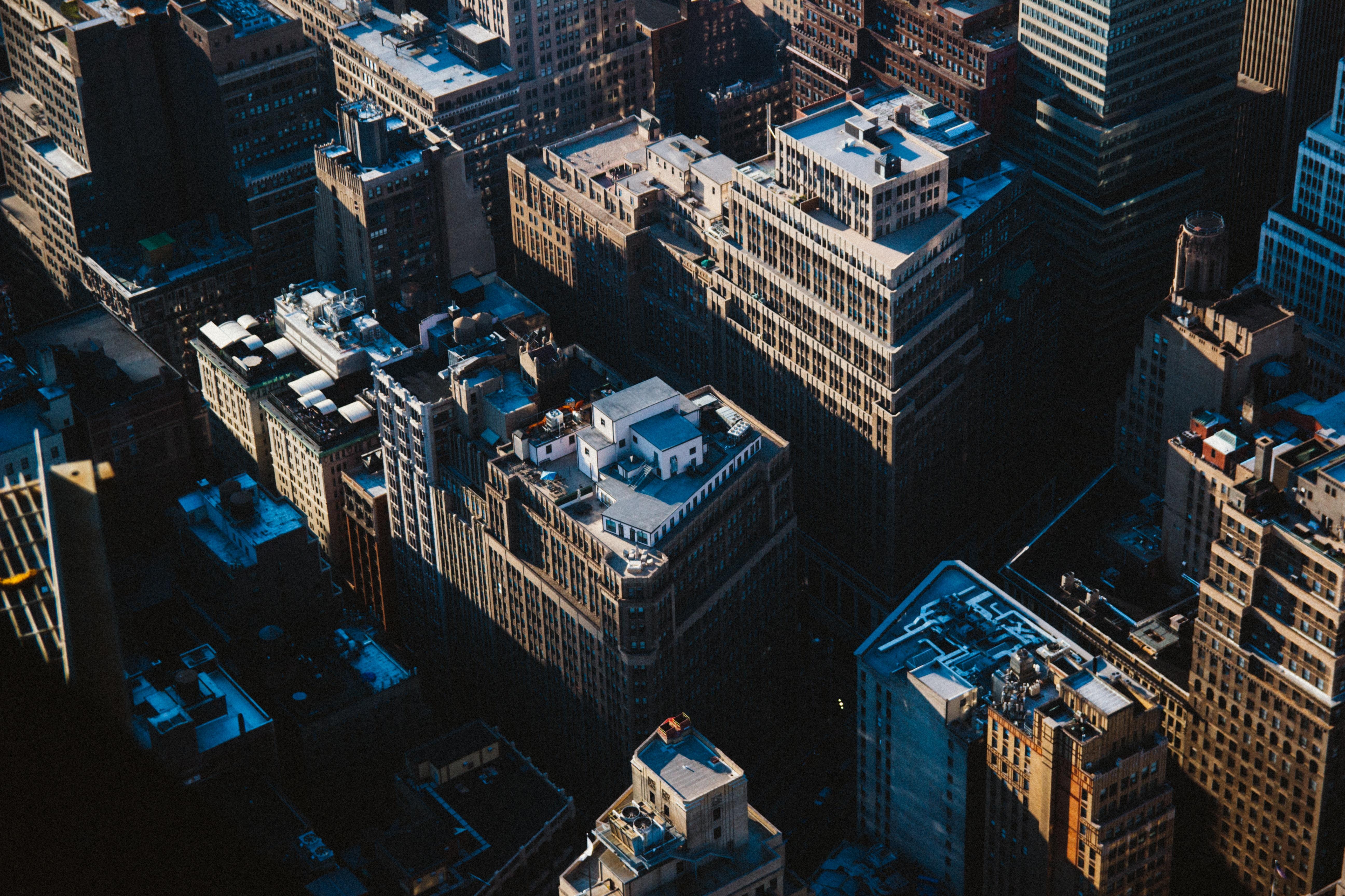 bird's-eye view of buildings