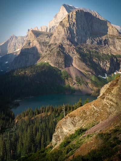 Grinnell Lake Morning Overlook