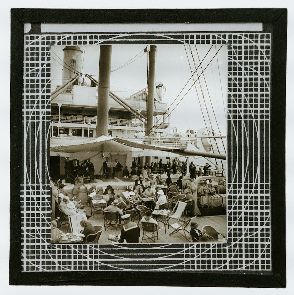 white ship illustration