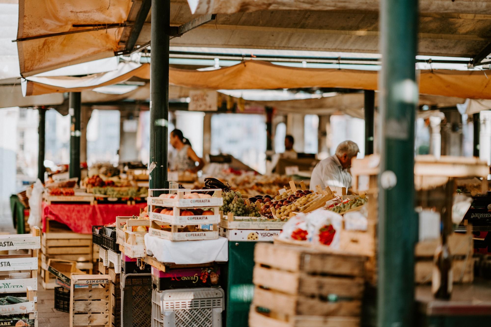 Fresh fruit and veg stall
