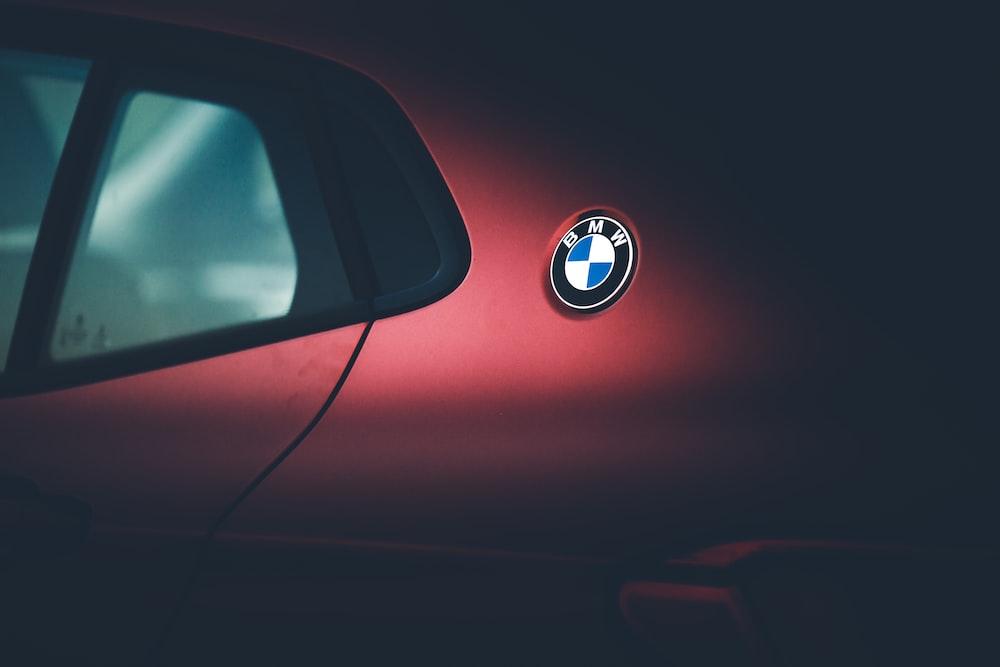red BMW vehicle wallpaper