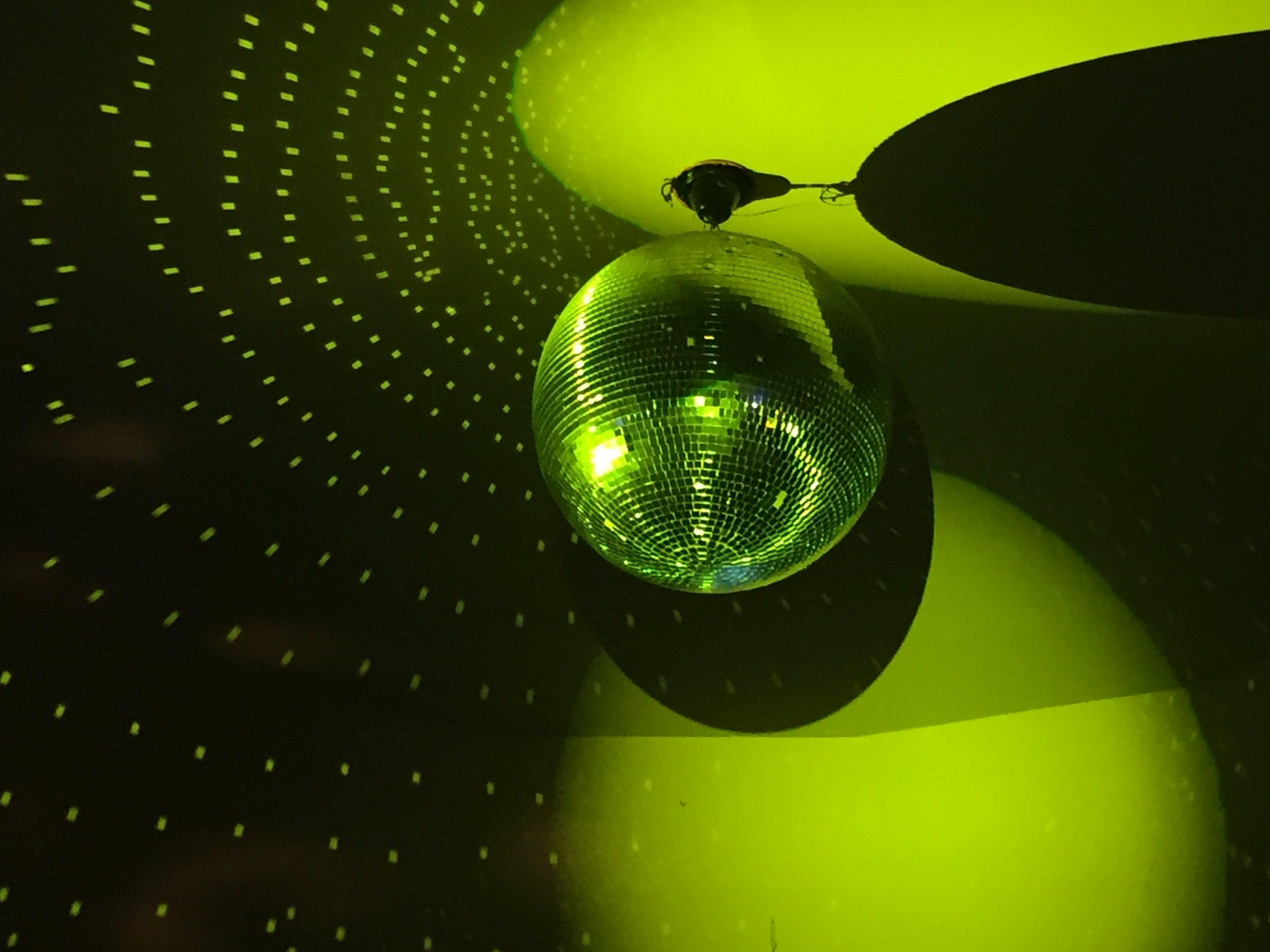 green disco light