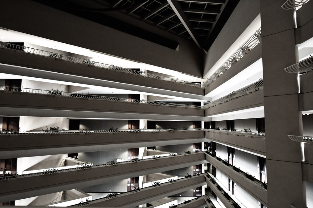 white structural building