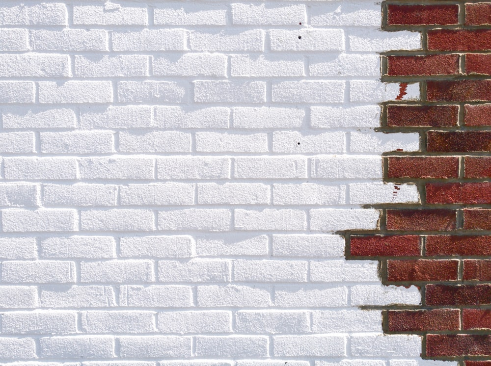 White And Brown Brick Wall