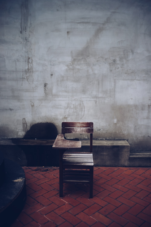 brown wooden desk chair