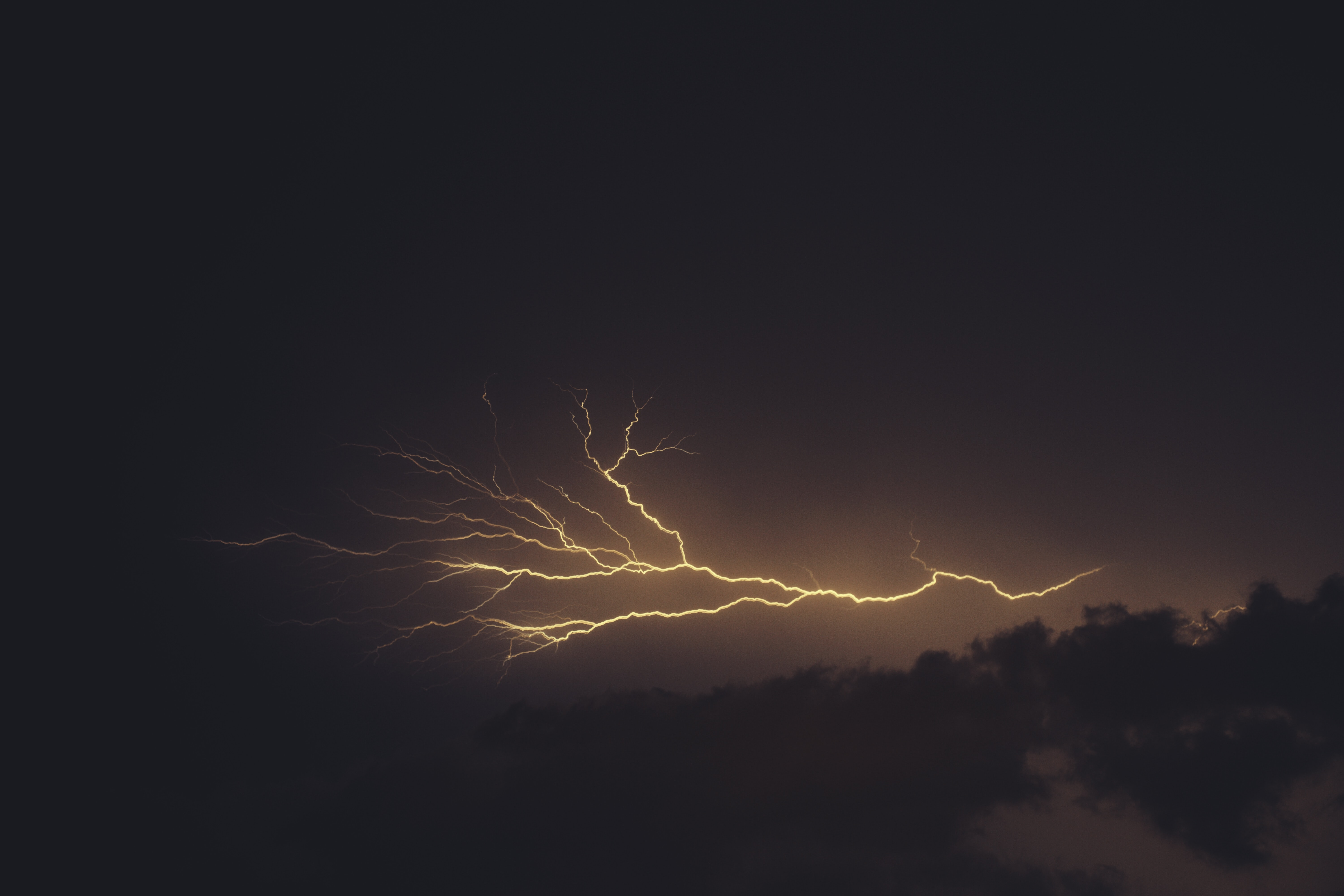 time-lapse photography of thunder