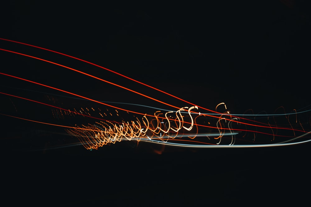 time-lapse photography of orange and red light