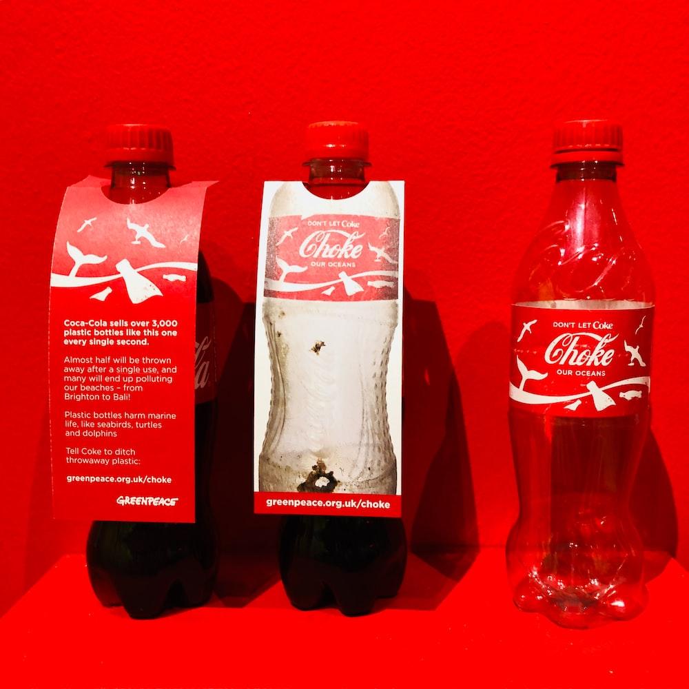 empty Coca-Cola soda bottle