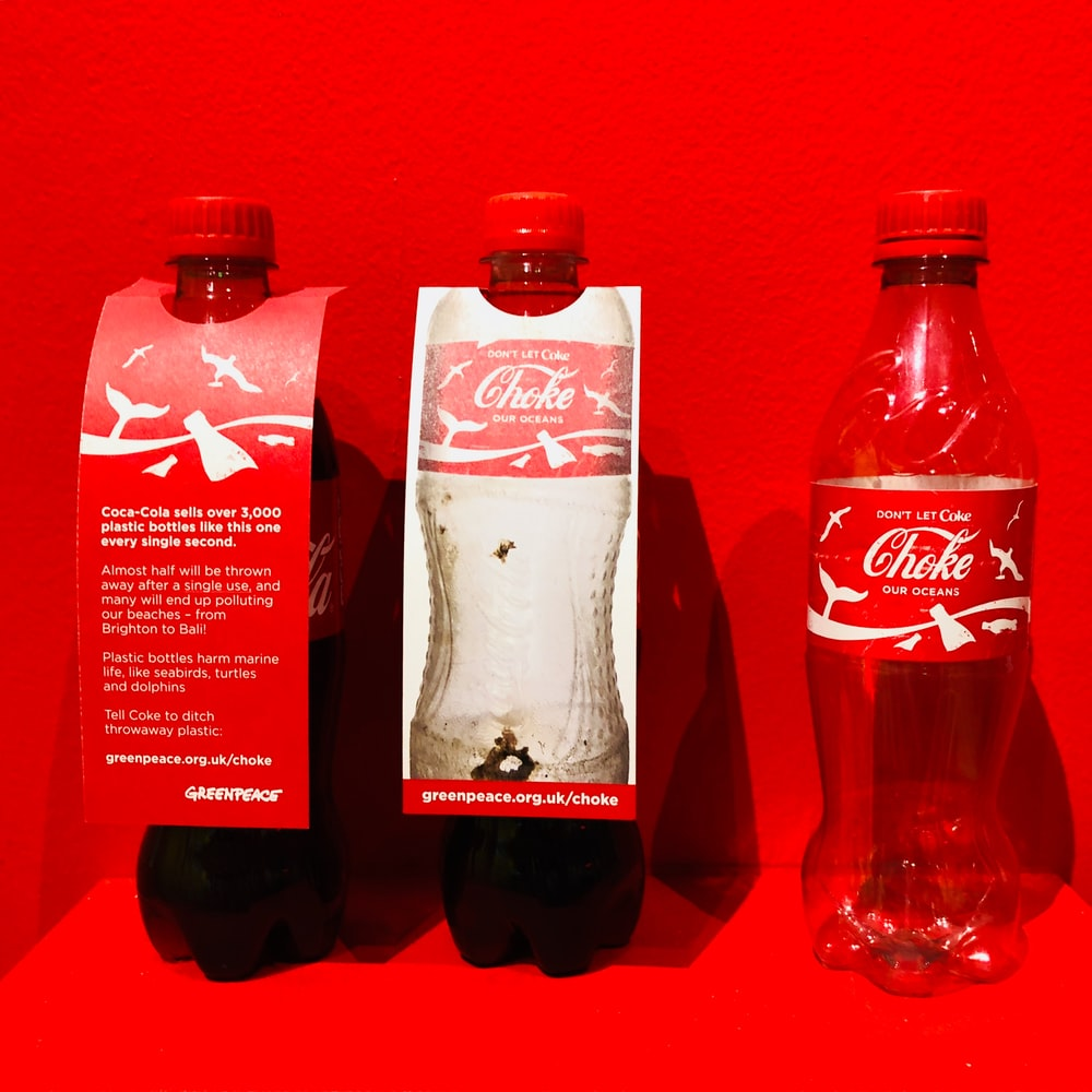 empty Coca-Cola soda bottle