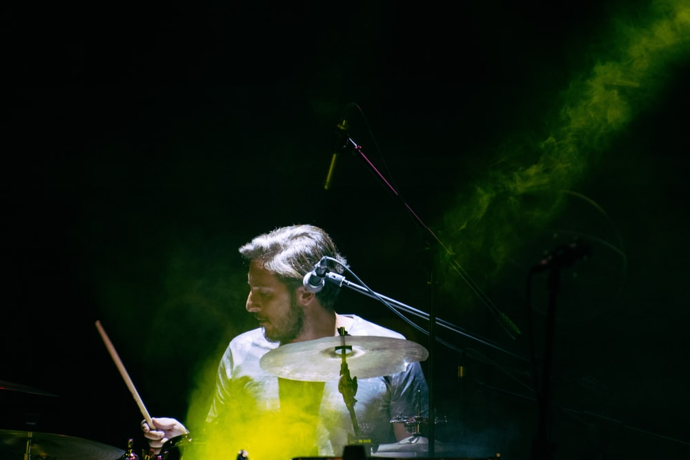 person playing drum