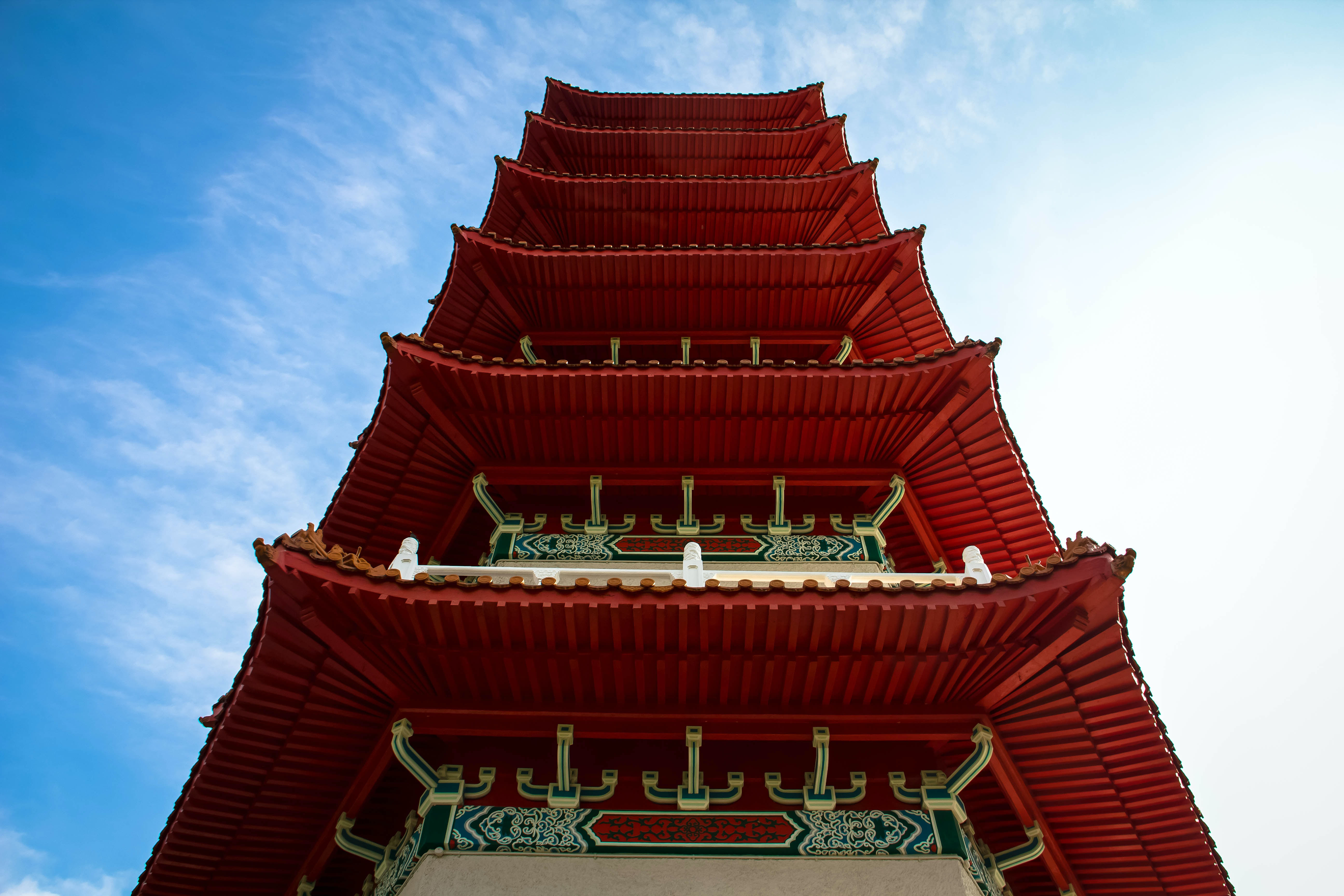 red and white pagoda