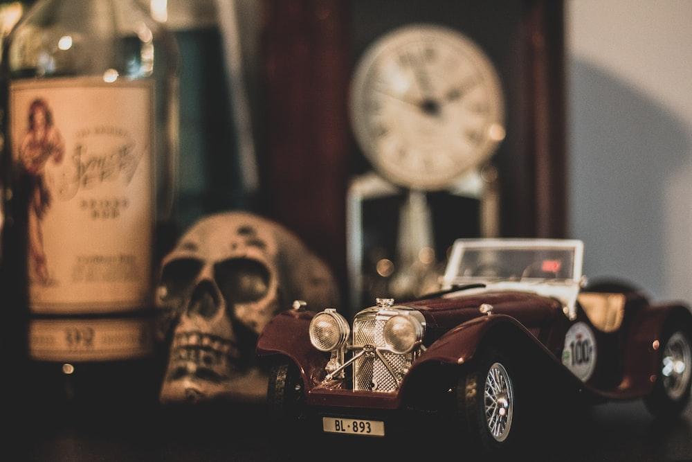 brown die-cast car model