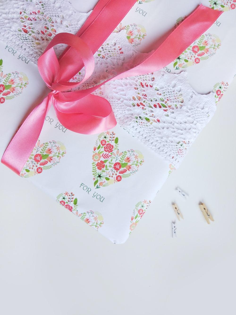 pink tassel ribbon