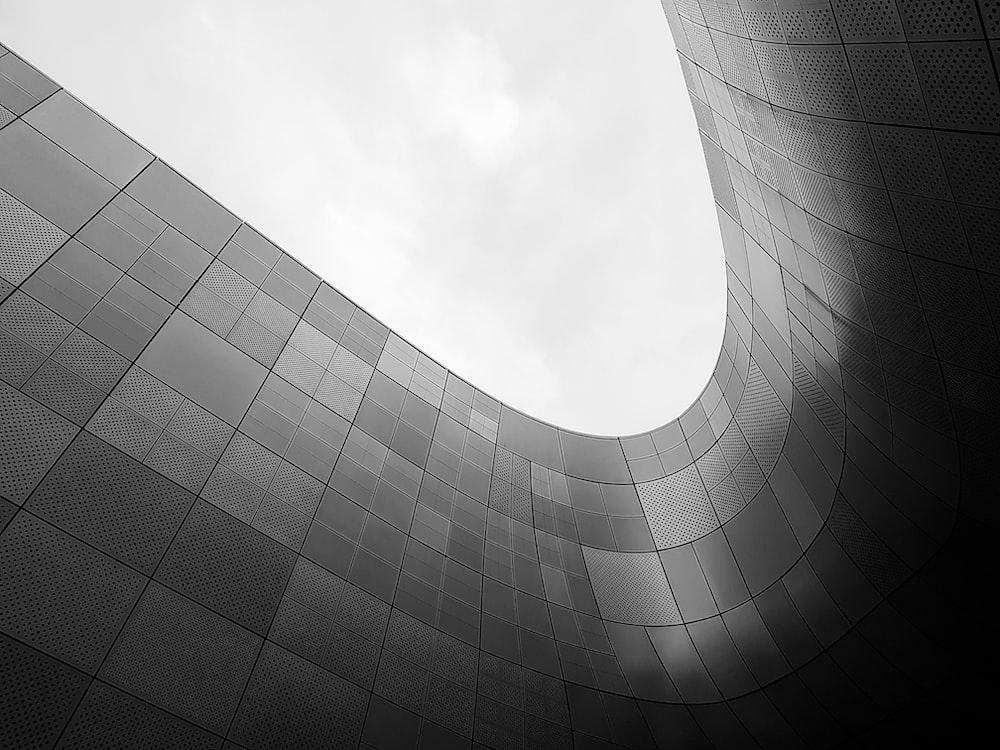bottom-view concrete building