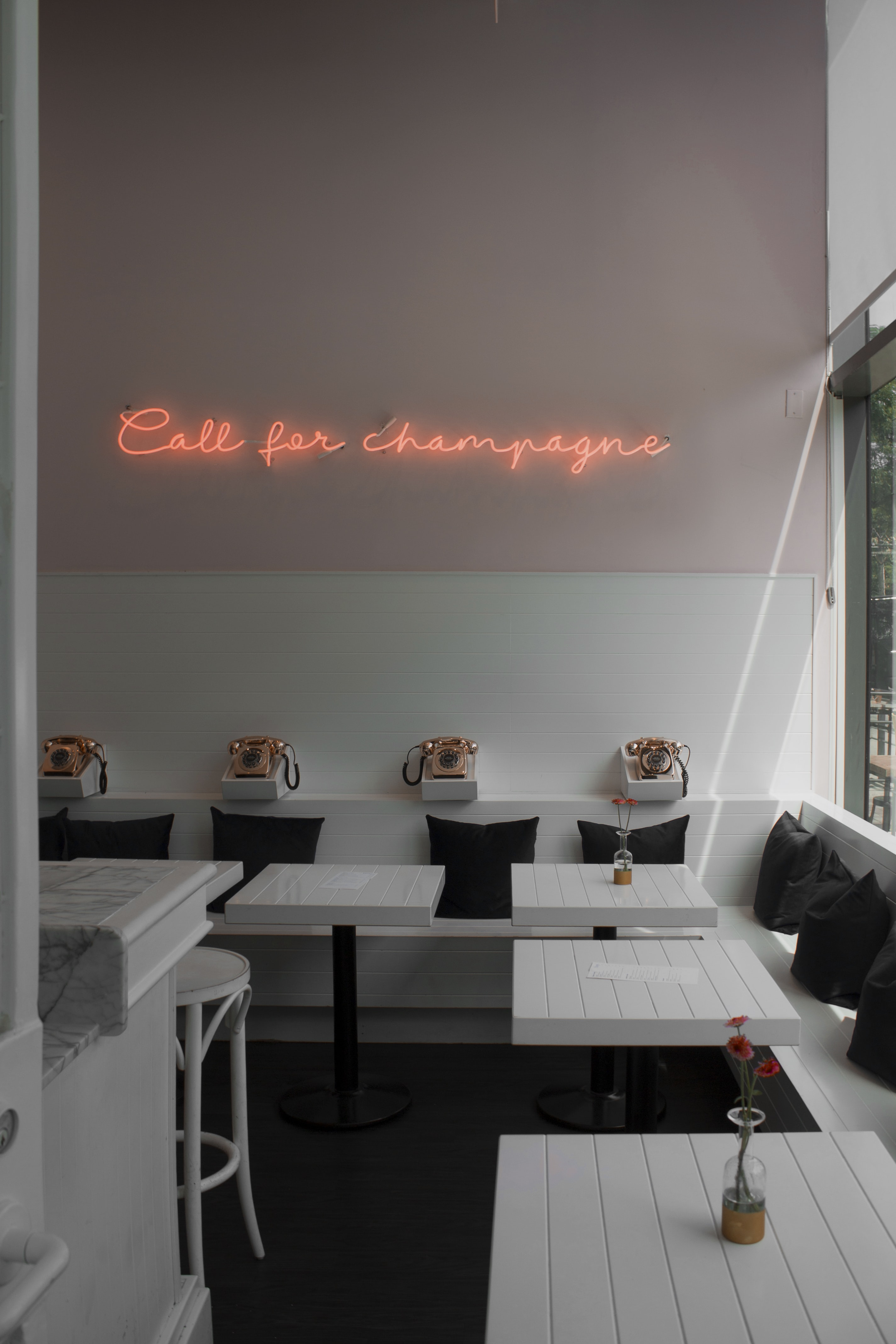 cal for champagne signage
