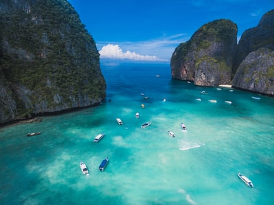 aerial photography of body of water thailand teams background