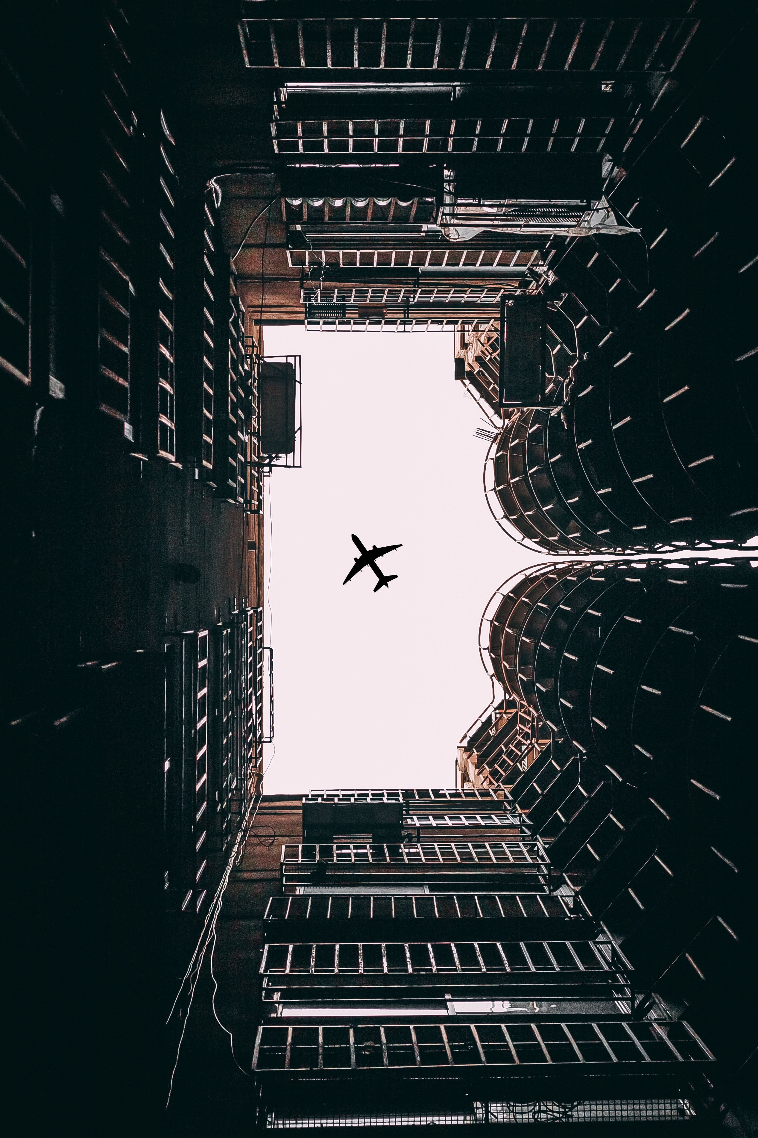 angle view of airplane