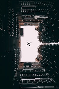 angle view of airplane