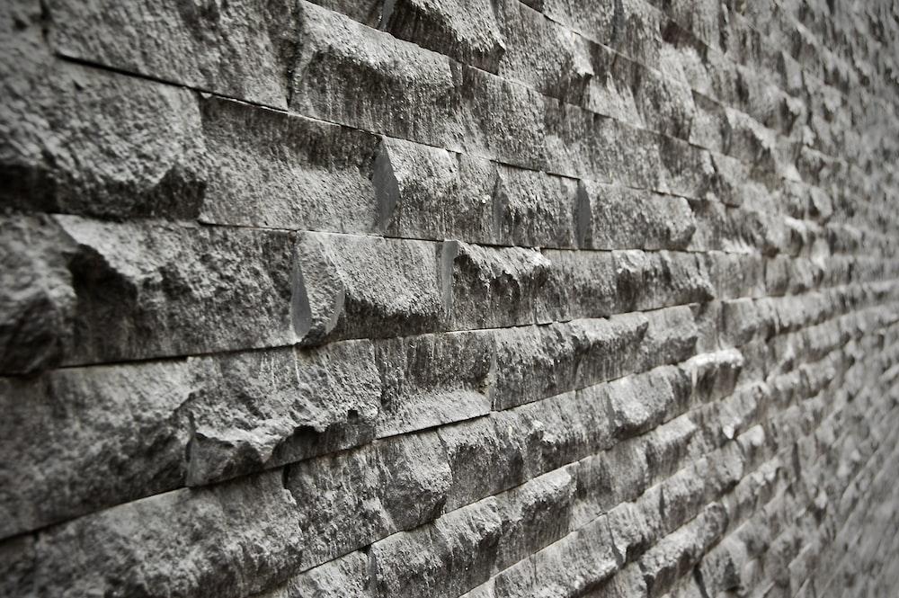 gray cinder brick wall