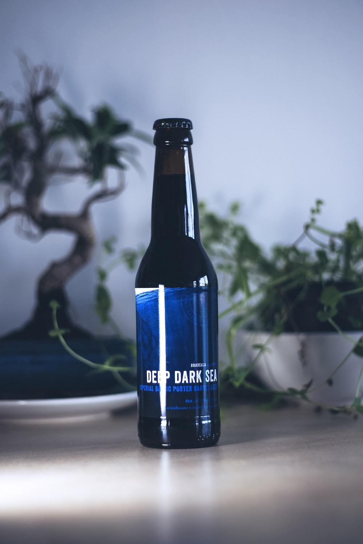 Deep Dark Sea bottle on desk