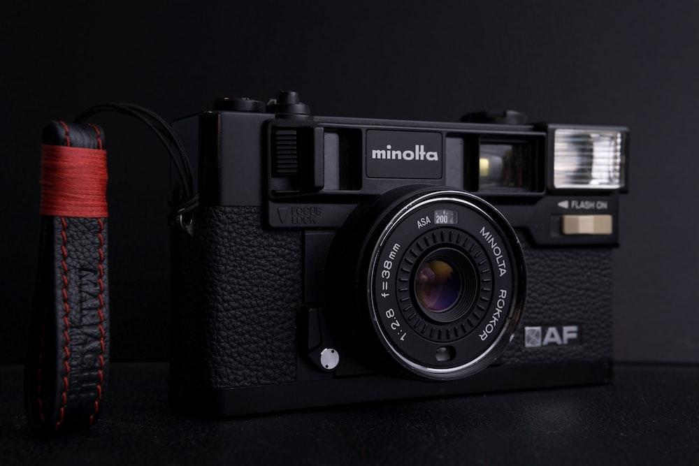 black Minolta AF camera